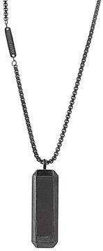 Ben Sherman Men's Leather Dog Tag Necklace