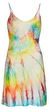 Dannijo Women's Tie-Dye Silk Mini Slip Dress