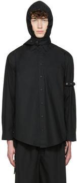 Craig Green Black Cotton Hooded Shirt