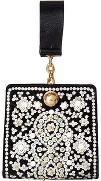 Tory Burch Darcy Embellished Clutch Clutch Handbags - BLACK - STYLE