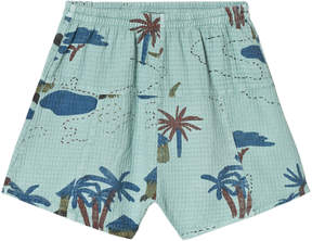 Bobo Choses Beryl Green Gombe Explorer Bermuda Shorts