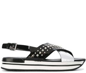 Hogan studded platform sandals
