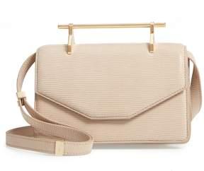 M2Malletier Indre Embossed Leather Shoulder Bag