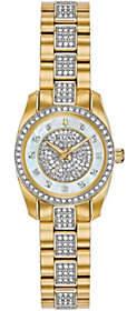 Bulova Women's Goldtone Swarovski Crystal Watch