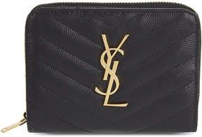 Saint Laurent Monogram small leather purse - BLACK - STYLE