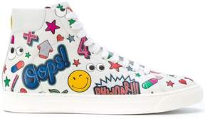 Anya Hindmarch Hi top all over wink stickers