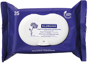 Klorane Make-up Remover Biodegradable Wipes with Soothing Cornflower.