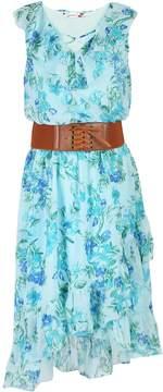 Speechless Girls 7-16 Criss Cross Front Belted High-Low Ruffle Dress