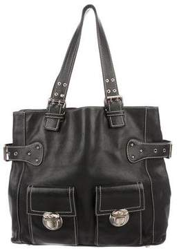 Marc Jacobs Large Buckle Leather Tote