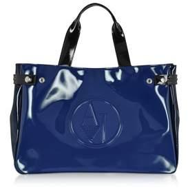 Armani Jeans Women's Blue Pvc Tote.