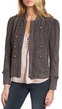 Chelsea28 Women's Ruffle Suede Jacket