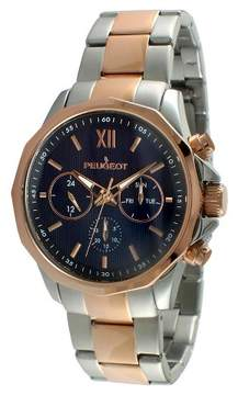 Peugeot Watches Men's Stainless Steel Multifunction Calendar Watch - Rose Gold