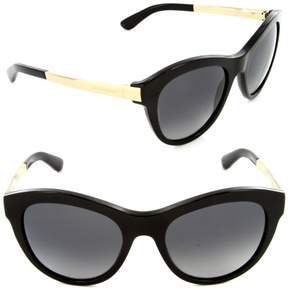 Dolce & Gabbana Women's DG4243 4243 501/T3 Black/Gold Sunglasses 53mm
