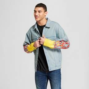 Jackson Men's Destructed Denim Trucker Jacket Light Indigo