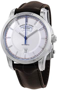 Maurice Lacroix Pontos Day/Date Retro Silver Dial Men's Watch