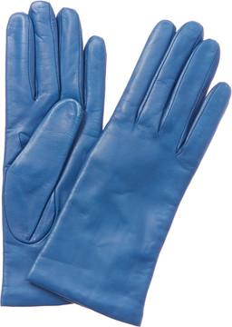Portolano Women's Blue Leather Gloves