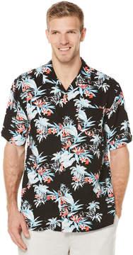 Cubavera Big & Tall Short Sleeve Retro Tropical Print Shirt