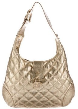 Burberry Metallic Quilted Hobo - GOLD - STYLE