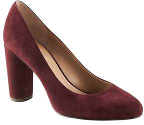 Banana Republic Almond-Toe Round-Heel Pump