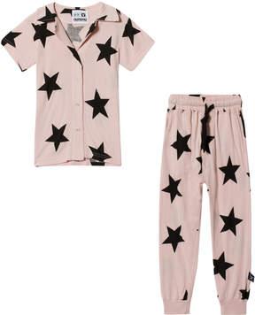 Nununu Powder Pink Buttoned Loungewear