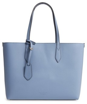Burberry Medium Reversible Check & Leather Tote - Blue - BLUE - STYLE