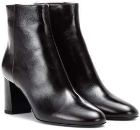 Saint Laurent Loulou 70 leather ankle boots