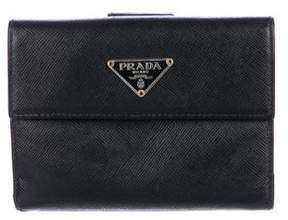 Prada Saffiano Leather Compact Wallet