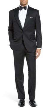 David Donahue Men's Russell Classic Fit Loro Piana Wool Tuxedo