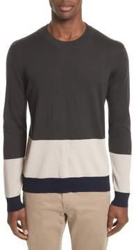 ATM Anthony Thomas Melillo Colorblock Merino Wool Sweater