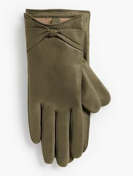 Talbots Leather Bow Glove