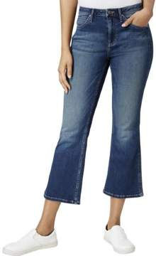Calvin Klein Jeans Womens Sculpted Wide Leg Cropped Jeans