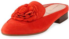 Taryn Rose Blythe Floral Suede Mule Loafer