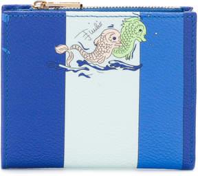 Emilio Pucci striped fish print small wallet