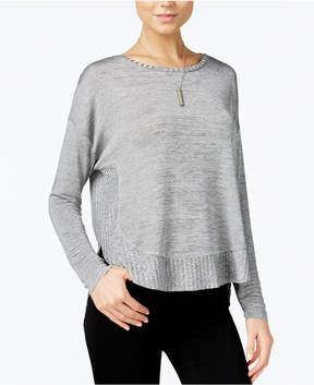 Bar III High-Low Curved-Hem Sweater, Created for Macy's