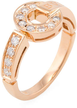 Bulgari Women's Vintage 18K Rose Gold & 0.25 Total Ct. Pave Diamond Ring