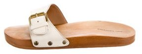 Etoile Isabel Marant Leather Slide Sandals