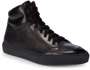 Aquatalia Men's Asher Woven Waterproof Leather Sneakers