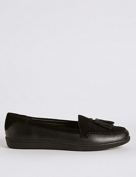 Marks and Spencer Leather Tassel Slip-on Pump Shoes