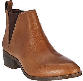 Sole Society Leather Chelsea Boots - Mars