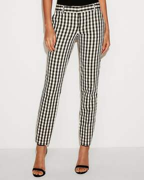 Express Low Rise Check Columnist Ankle Pant