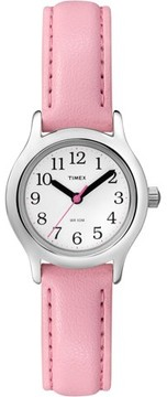 Timex Kid's My First Easy Reader Pink Watch, Synthetic Leather Strap
