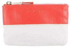 Sandro Colorblock Pebbled Leather Pouch