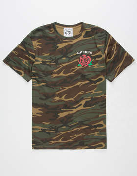 Riot Society Camo Rose Mens T-Shirt