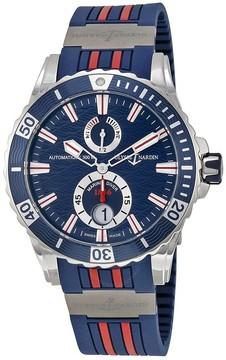 Ulysse Nardin Maxi Marine Diver Blue Dial Blue Rubber Men's Watch
