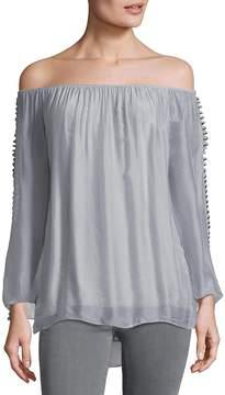 Le Marais Women's Ladder Sleeve Silk Top