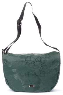 Alviero Martini Women's Green Polyamide Shoulder Bag.
