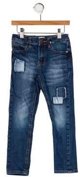 Hudson Girls' Five Pockets Straight-Leg Jeans