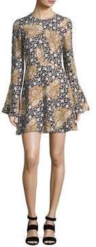 A.L.C. Trixie Printed Silk Mini Dress, Multi