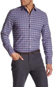 Original Penguin Long Sleeve Mini Plaid Heritage Slim Fit Shirt