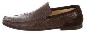 Dolce & Gabbana Ostrich Leg Square-Toe Loafers